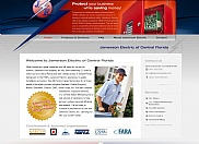 "Jamerson Electric approached us about creating a single website which would serve the purpose for two divisions in different geographical locations. We developed the site utilizing a ""gateway"" page which triggers all of the contact information to automatically update on every page depending the location the visitor clicked on."