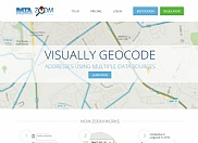 The ZOOM Geocoder is a web-based tool that is designed for geocoding of hard-to-find addresses and also auditing of other processes to make sure they are producing correct results. The ZOOM Geocoder utilizes 7 of the Internet's best and most up-to-date geocoders and mapping programs available. If these automated geocoders can't find an address, no automated tool can. It then consolidates the results from all of the geocoders and shows them on a RATA-enhanced Google map. By analyzing the results displayed, the user can compare all of the results on one page and select the correct Tract quickly and easily.