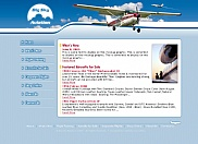 Graphical mockup of the future web site redesign for Big Sky Aviation.