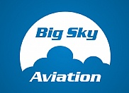 Graphical mockup of a logo redesign for Big Sky Aviation.