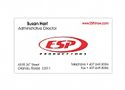 ESP Productions came to us for a simple and clean design of a whole set of standard marketing materials.