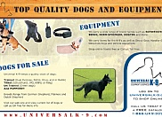 Universal K-9 started a campaign to advertise in both print and online media. We designed several pieces to promote both products and services offered by the company.