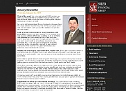 Siler Financial Group needed the ability to create new commentary articles at any time on the web site.  This was achieved by providing an administrative interface for the client to log in and add new articles at any time. They also had a need for their customers to log in and enter their information to better assist them. This has also been programmed and securely accessed via the same administrative interface.