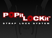 Logo for POPit LOCKit strap lock product.