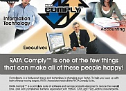RATA Associates wanted to create an ad campaign to advertise in different print medias. We designed several pieces to promote all aspects of their new Comply software product as well as branding their company name throughout the industry.