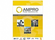 Our client came to us for a complete marketing package which included a custom designed folder for distributing to potential clients and trade show visitors. The folder also includes a cut out to place the business cards that we also designed for AMPRO Power Solutions. Several other pieces have been designed as well for different purposes.